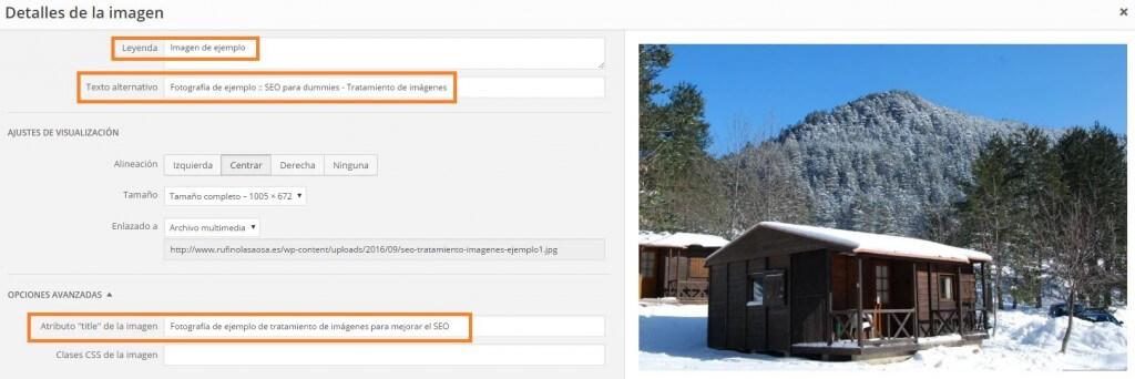 Atributos asociados a una imagen en WordPress :: SEO para dummies - Tratamiento de imágenes.