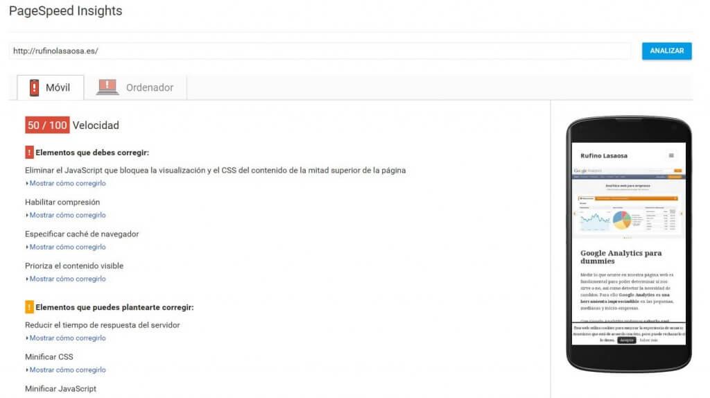 Rsultado de PageSpeed Tools -> Insights :: SEO para dummies - Tratamiento de imágenes