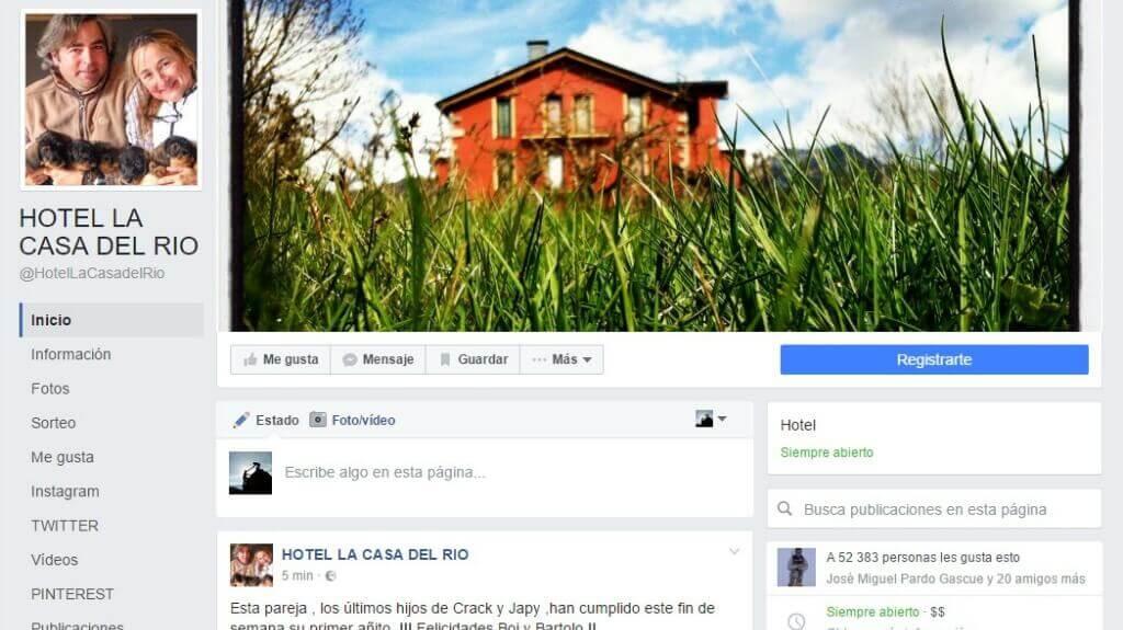 Facebook para Turismo Rural. Ejemplo de página de empresa