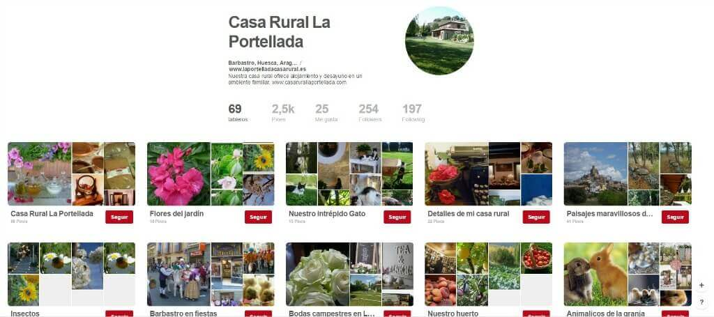 Pinterest para Turismo Rural