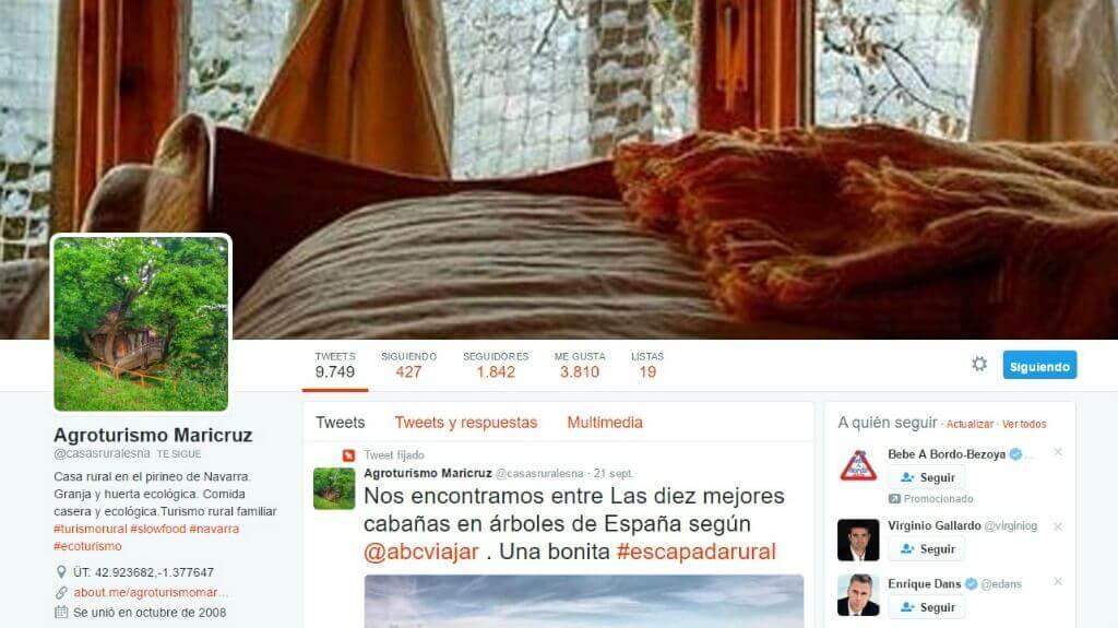 Twitter para Turismo Rural